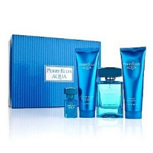 Perry Ellis Aqua For Men Giftset