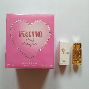 Moschino Pink Bouquet For Women EDT 100ml + Free Lolita Lempicka Elle Laime Edp 5ml (Miniatur)