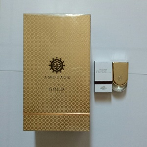 Amouage Gold for Men EDP 100ml + FREE Hermes Voyage D'hermes Unisex EDT 5ml (Miniature)