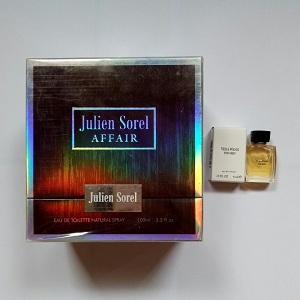 Julien Sorel Affair For Men EDT 100ml + FREE Vera Wang for Men EDT 4ml (Miniature)