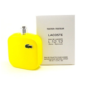 Lacoste L.12.12 Yellow (Jaune) for Men EDT 100ML (Tester)