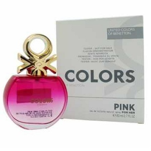 Benetton United Colors De Benetton Pink For Her EDT 80ML (Tester)