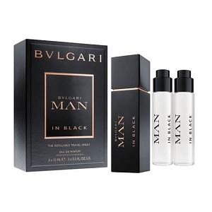 Bvlgari Man In Black The Refillable Travel Spray Isi 3 (Miniset)